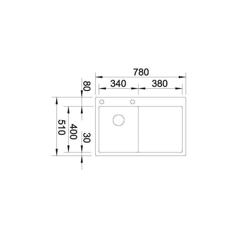 blanco claron 4 s if levi 521624 opremacenter. Black Bedroom Furniture Sets. Home Design Ideas