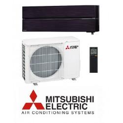 Klimatska naprava MITSUBISHI MSZ-LN25VGB/MUZ-LN25VG Oniks črna + montaža na ključ z nosilnimi konzolami