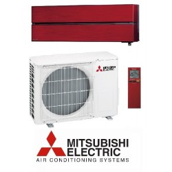 Klimatska naprava MITSUBISHI MSZ-LN25VGR/MUZ-LN25VGHZ Rubinasto rdeča + montaža na ključ z nosilnimi konzolami