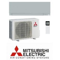 Klimatska naprava MITSUBISHI MSZ-EF25VGKS/MUZ-EF25VG Srebrna + montaža na ključ z nosilnimi konzolami