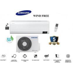 Klimatska naprava SAMSUNG AR12TXFCAWKNEU/AR12TXFCAWKXEU WIND-FREE COMFORT + montaža na ključ z nosilnimi konzolami!