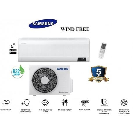 Klimatska naprava SAMSUNG AR12TXCAAWKNEU/AR12TXCAAWKXEU  WIND-FREE  ELITE + montaža na ključ z nosilnimi konzolami!