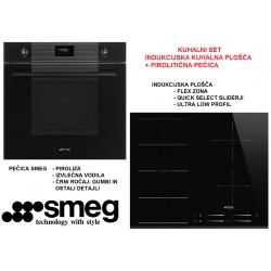 Kuhalni set SMEG BLACK EDITION SFP6101TVNO + SI1F7645B