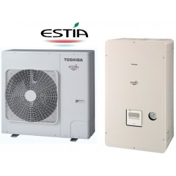 Toplotna črpalka TOSHIBA Estia HWS-1404H8-E1 + HWS-1404XWHT9-E1