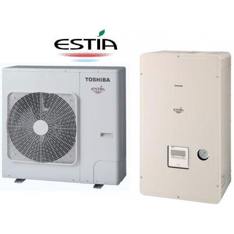 Toplotna črpalka TOSHIA Estia HWS-1404H8-E1 + HWS-1404XWHT9-E1